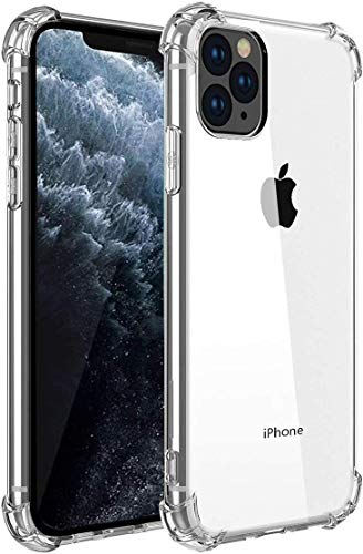 "Funda iPhone 11 Pro Max, Carcasa Protectora Antigolpes Transparente con Parachoques de TPU Suave Flexible [Slim Delgada] Anti-Choques Compatible para Apple iPhone 11 Pro Max 6,5"" - Transparente"