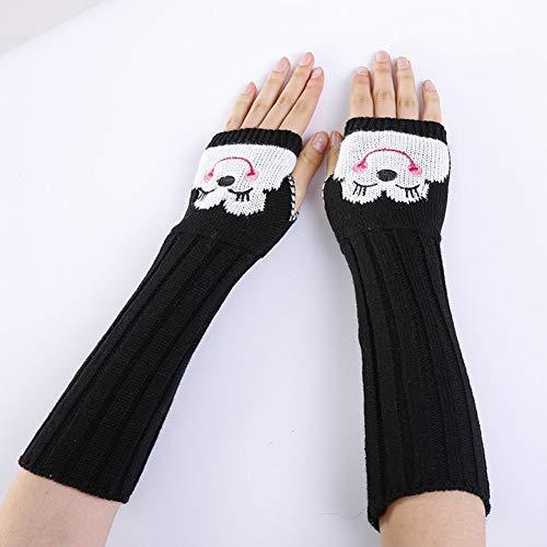 MKDASFD 2 Paar Mode Damen Baumwolle Winter Handschuhe Frauen Mädchen Mittens Solide Farbe Winter Warm Erwachsene Gestrickte Handschuhe#4