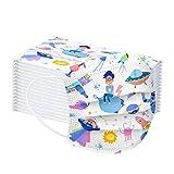 50 Pezzi Bambini Protezione per Il Viso USA e Getta 3 Strati Antipolvere Tessuto Viso Cotone Antipolvere Visiera Bocca Faccia Adatto (K)