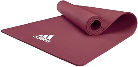 adidas Yoga Mat Thick 8mm EVA Foam Non Slip Exercise Workout Mats for Men and Women - Ideal for Home Gym Fitness, Yoga, Pi...