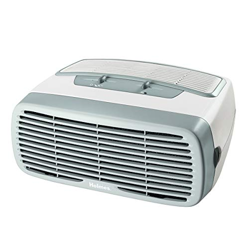 Best Price! Holmes Small Room 3-Speed HEPA Air Purifier with Optional Ionizer, White