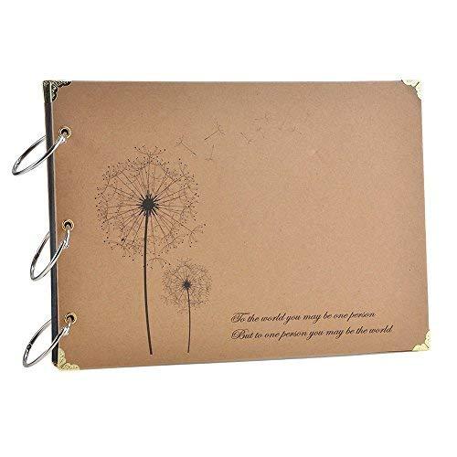 Itian® Album de Fotos - Scrapbook Albums, Diente de león Retro DIY Craft Aniversario Regalo, 26 x 18cm