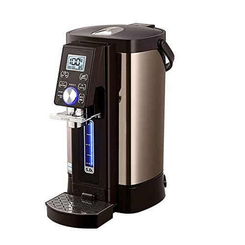 YJDQSJ Dispensador de agua caliente Botella de Agua Dividida, Temperatura Constante, Pantalla Digital Inteligente de Alta DefinicióN, Hervidor eléCtrico de Acero Inoxidable 304 PortáTil/A / 5