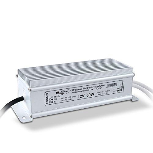 Preisvergleich Produktbild Esmart Germany Universal Transformator / Leistung. 0-60W 5, 0A Dc12V / Ac170~250V / Ip67 Staub- Und Wasserdicht
