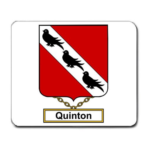 Quinton Family Crest Coat of Arms Mouse Pad