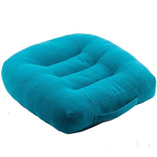 MAOX Adulti Car Driver Booster Seat for visibilità - Morbida Confortevole Ammortizzatore di sede (Color : Blue)