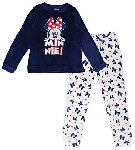 Disney Minnie - Pijama largo de forro polar Azul azul marino M