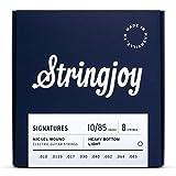 Stringjoy HVY108 8 String Signature Nickel Electric Guitar Strings, (Heavy Bottom Light Gauge - 10-85)