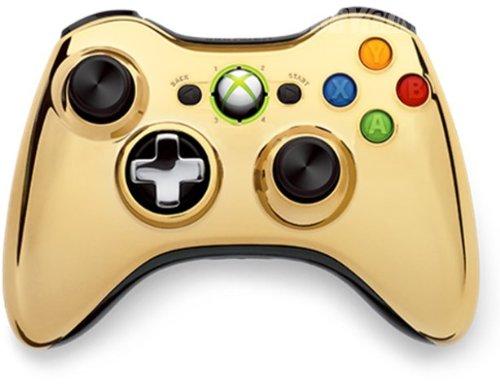 XBOX360 Kabellose Fernbedienung, goldfarben