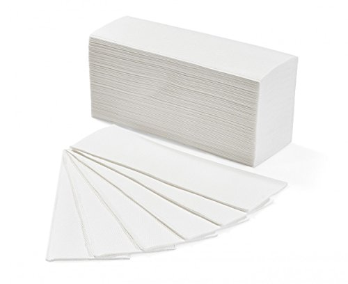 IMBALLAGGI 2000 - Salviette Asciugamani Monouso di Carta - Carta Asciugamani Piegati a Z per Dispenser - 1 Confezione da 3300 Pezzi