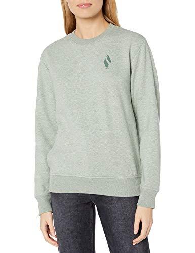 Skechers Damen Diamond Logo Crewneck Pullover Sweatshirt, Heather Lilie Pad, Large