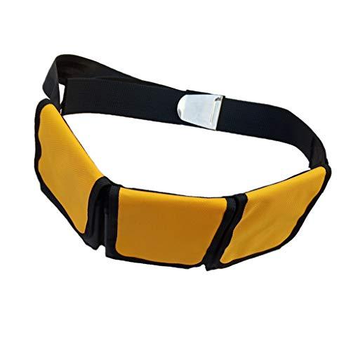 Toygogo Bleigurt Tauchen mit Taschen Bleigürtel Gewichtsgurt Taschenbleigurt - 3 Tasche