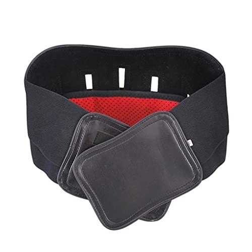 ZFRXIGN Fijación Cintura Cinturón Protección Manténgase Abrigado En Otoño E Invierno Cinturón Abdomen Soporte Elástico Corsé Acero Cuero Soporte Cintura Ajustable Y Cálido(Size:Metro,Color:Negro)