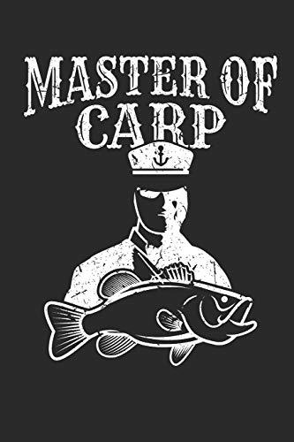 Master of Carp: Notizbuch für alle Karpfenangler und Karpfen Fans als Teil des Angel Sets Grundausstattung I ca. A5 (6x9 inch.) I Geschenk I 120 Seiten I Blanko