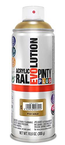 PINTYPLUS EVOLUTION 279 Pintura Spray Acrílica Brillo 520cc Gold P151, Oro, 0.6
