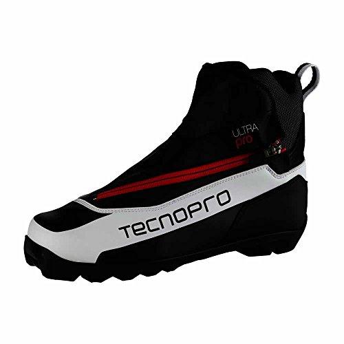 TECNOPRO Herren Langlauf-Schuh Ultra Pro Prolink Skilanglaufschuhe, weiß/Schwarz/Rot, 7.5
