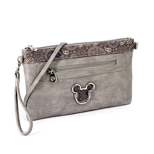 KARACTERMANIA Mickey Mouse Paisgrey-bolso Walk Pocket Umhängetasche, 28 cm, Grau (Paisgrey)