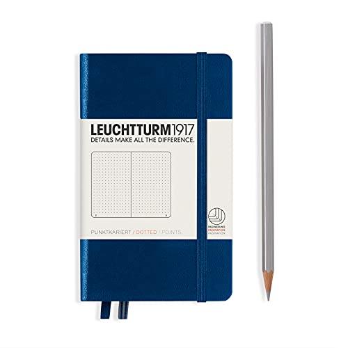 LEUCHTTURM1917 342921 Libreta de notas Pocket (A6) tapas duras, 187 páginas numeradas, azul marino, puntos