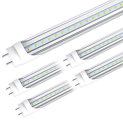 CNSUNWAY LIGHTING 4FT T8 LED Light Tube, 22W F48T8 LED Bulbs with Clear Cover
