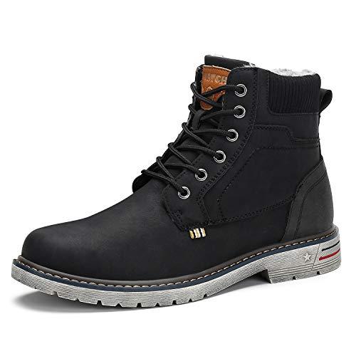 Womens Snow Warm Boots Comfortable Waterproof Non-Slip Outdoor Trekking Hiking Mens Winter Ankle Boots Black 11 Women/9.5 Men