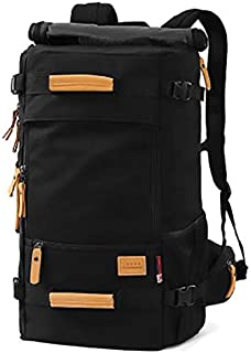 Hiking Trekking Bag canvas backpack men large capacity travel bag outdoor bag luggage OSM92 black