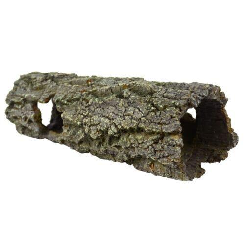 HERITAGE TB093 LARGE TREE LOG HIDE SWIM TUNNEL AQUARIUM FISH TANK ORNAMENT HANDPAINTED DECORATION 30CM