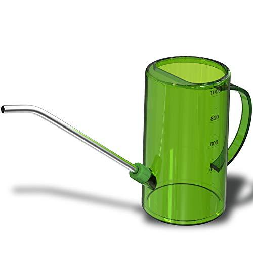 WD&CD Regadera, Regadera Extraíble, Regadera de Plástico, Regadera Interior,Regadera Bonsai Pequeña,Regadera Maceta,Regadera Pequeña Interior,Regadera de Plástico,Regadera para Plantas (Verde)