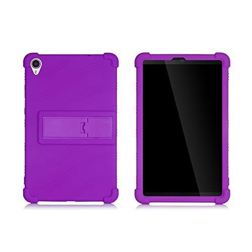 ZONLIN Genérico Silicona Funda Carcasa para Lenovo 2019 Tab M8FHD / M8HD / TB-8505 / TB8705 Tableta de 8 Pulgadas, con Stand Función, Púrpura