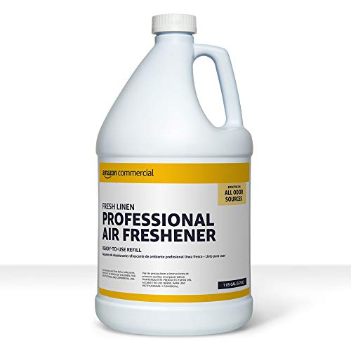 AmazonCommercial Professional Deodorizing Air Freshener Refill, Fresh Linen, 1-Gallon, 2-Pack