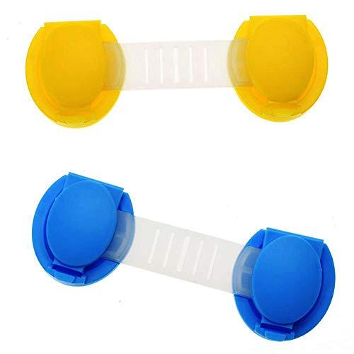 Lock Pad Lock 2 stks Plastic Safety Lock Baby Kid Cabinet Deur Koelkast Ladekast Kind Kast