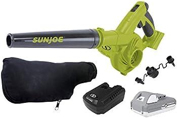 Sun Joe 24V-WSB-LTE 180-MPH 92-CFM Max Multi-Purpose Blower Kit