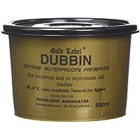 Gold Label Dubbin - Cera para Calzado y Ropa de Piel Negro Negro Talla:500 g