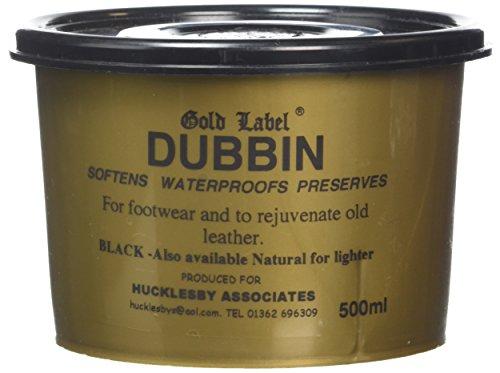 Gold Label Dubbin - Cera para Calzado y Ropa de Piel Negro