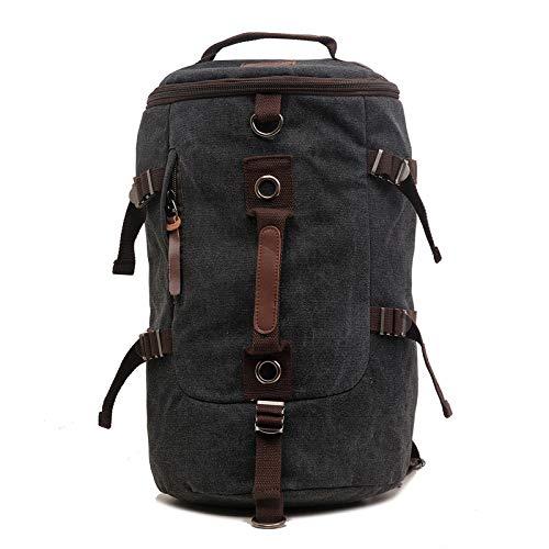 QXbecky Toile sac à dos une épaule diagonale occasionnels grande capacité multi-fonction hommes sac voyage sac d'alpinisme randonnée en plein air sac à dos sac à dos noir 32x271x46cm