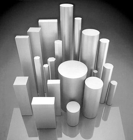 Barra de aluminio cuadrada