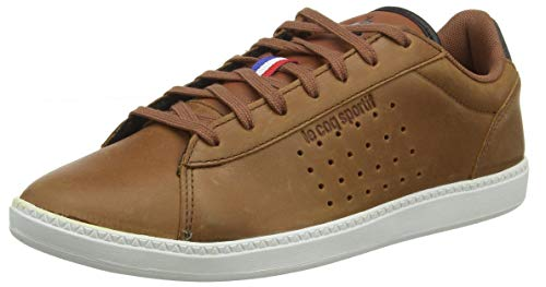 le coq Sportif COURTSTAR Winter Leather, Baskets Hommes, Marron (Cinnamon Cinnamon), 43 EU
