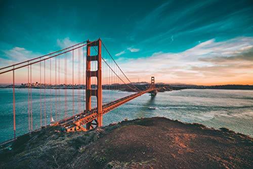 hansepuzzle 11229 Viaggi - Golden Gate Bridge, 2000 Pezzi in Scatola di Cartone di Alta qualità, Puzzle in Busta richiudibile