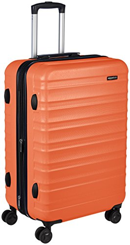 AmazonBasics Hardside Spinner Suitcase Luggage - Expandable with Wheels - 26 Inch, Orange