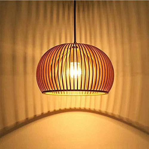 Araña de madera moderna del techo de la decoración casera Lámpara de madera creativa europea del guardarropa/35 * 35_Excluyendo fuente de luz E27