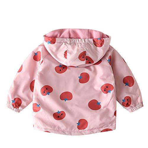 JiAmy Bambino Giacca a Vento con Cappuccio Cappotti in Pile Giacche della Tuta Sportiva Ragazze dei Ragazzi Autunno Caldo Primavera Abbigliamento