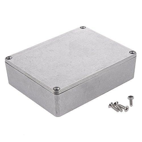 TOOGOO 1590BB Caja de Efectos de Guitarra Contenedor Aluminio 120X95X35Mm Plata