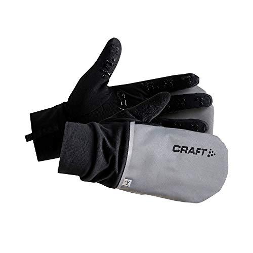Craft Hybrid Weather warme Handschuhe Running Unisex S Silber/schwarz