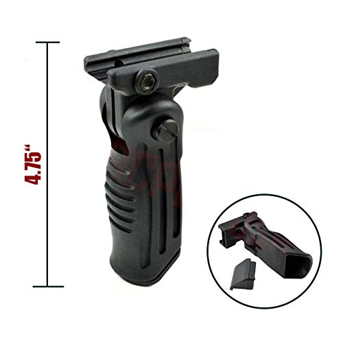 CLS TacticaI Folding Vertical Fore HandIe with Storage Compartment