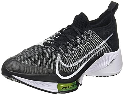 Nike Air Zoom Tempo Next% FK, Zapatillas para Correr Hombre, Black/White/Volt, 42 EU