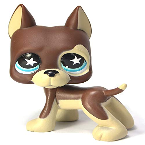 Mini Pet Shop LPS 1.4 inch Brown Great Dane Star Great Dane, cute cartoon pet cat and dog toy Littlest Pet Shop gift