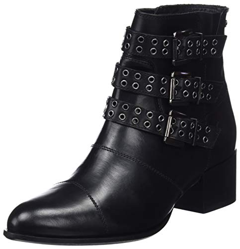Pepe Jeans London Waterloo Berlin, Botines Mujer, Negro (Black 999), 39 EU (Zapatos)