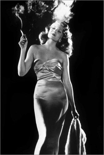 Poster 40 x 60 cm: Gilda de Charles Vidor - Rita Hayworth von Bridgeman Images - hochwertiger Kunstdruck, neues Kunstposter