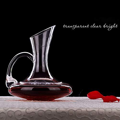 LIGHT Fait à la Main Décanteur à vin Creative Vin Rouge Décanteur Verre Cristal sans Plomb Vin Decanter ustensile pour Home Bar à vin et fête de Mariage, Transparent, Carafe,0.75l