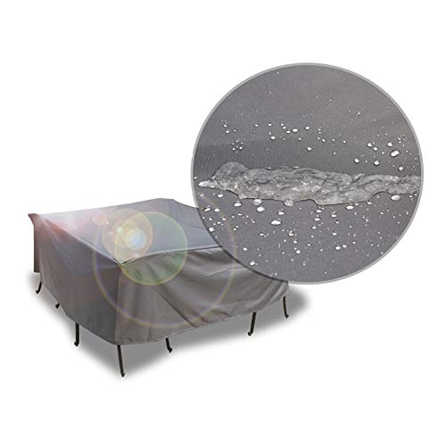 NINGWXQ Garden Furniture Cover Waterdicht Tarpaulin Rechthoekige Furniture Protective Cover Four Seasons, diverse maten, Silver, op maat (Color : Silver, Size : 80×80×80cm)