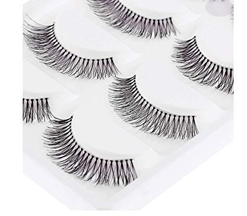 HYTGF Faux Cils Styles Cils 5 Paires/Paquet Naturel clairsemé Cross Eye Lashes Extension Maquillage Long Faux Cils 2pcs